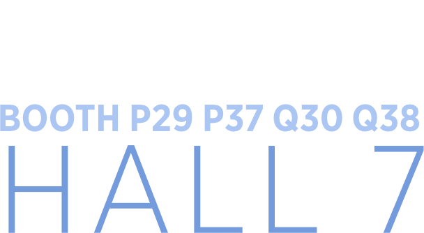 October 18-22, 2019 - Fiera milano - Booth P29 P37 Q30 Q38 - Hall 7